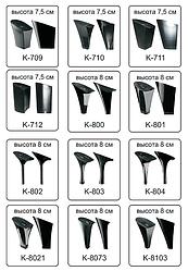 Каблуки женские пластиковые «Сталекс»  высота 7,5-8 см.