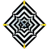 Настенные Часы металлические Glozis ILLusion Иллюзион черные (50х45 см) [Металл, Открытые, Цвета]