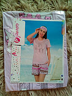 Комплект для сна - пижама с маской для сна, х.б.