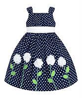 """Платье American Princess """"Белые цветы"""" 6 мес"""