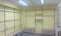 Рейкова настінне торгове обладнання Хром
