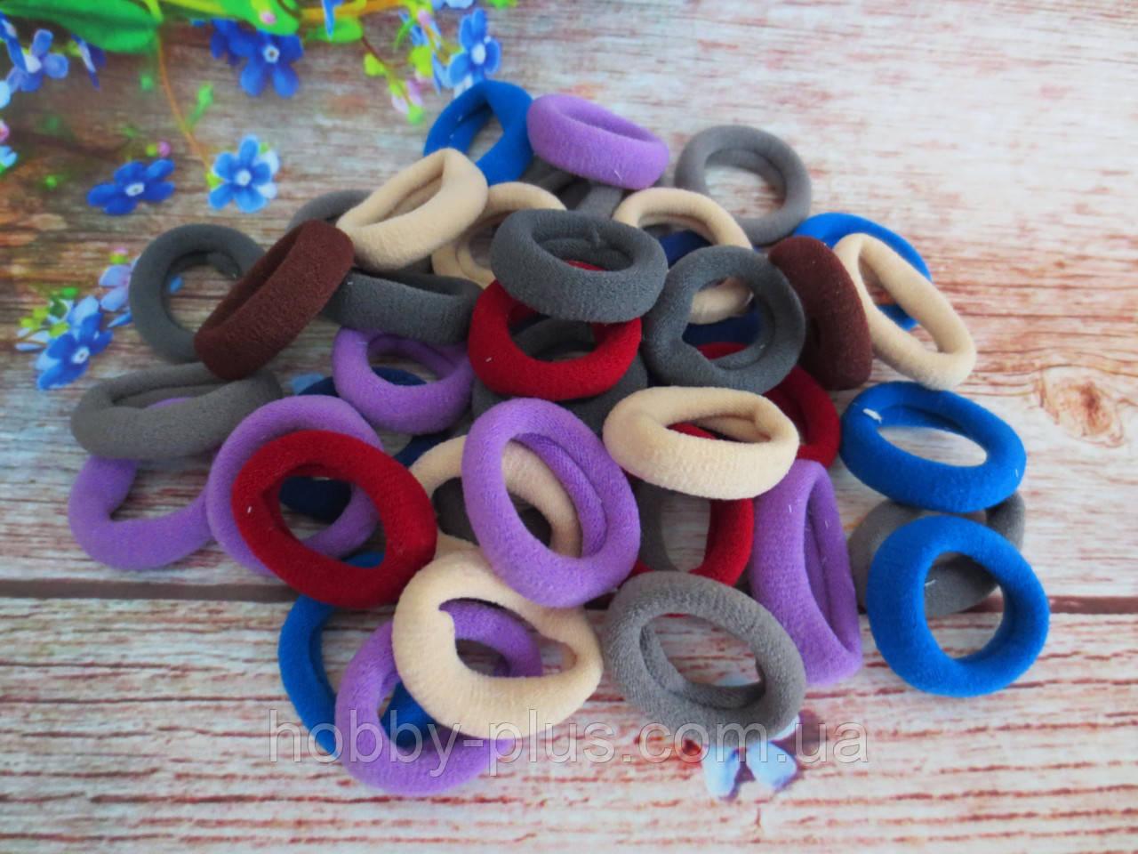 Резинки для волос нейлоновые, ЦВЕТНЫЕ, 2,5 см., (темные), 10 шт.