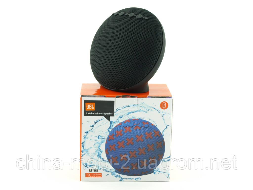 Music M198 3W в стиле JBL, портативная колонка с Bluetooth FM MP3, черная