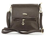 Небольшая практичная удобная и прочная небольшая сумочка почтальонка KENGURU art. F2466 коричневая, фото 1