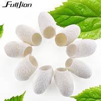 Коконы шелкопряда тутового, 10шт в упаковке, очищенные, бренд Fulljion