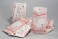 """Пакет бумажный  310х180х70 крафт белый, с рисунком """"ВЕСІЛЛЯ"""""""