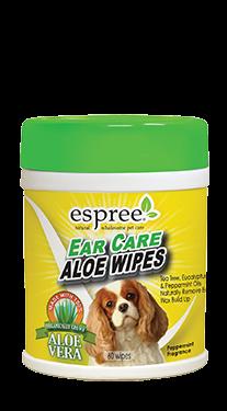 Espree Ear Care Wipes 60шт - очищающие салфетки с алоэ для ушей собак