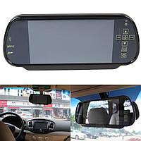 """Автомобильное зеркало-накладка с монитором 7"""" дюймов с USB МР5"""