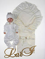 """Летний набор для мальчика на выписку """"Мечта"""", молочный, фото 1"""
