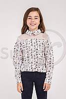 Шкільна блузка для дівчинки: Раяна туфельки