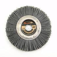 Щетка-пиранья дисковая для УШМ 125х12х22 мм P80 (серая)