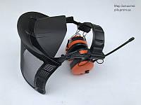 Защитная система наушники с FM-радио, сетка, козырек