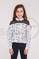 Шкільна блузка для дівчинки Suzie Раяна котики 128