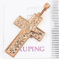 Крестик  xuping позолота18к  длина 3.5см к322