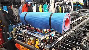 Удобный коврик для йоги и фитнеса двухслойный 8мм красный/салатный, фото 3