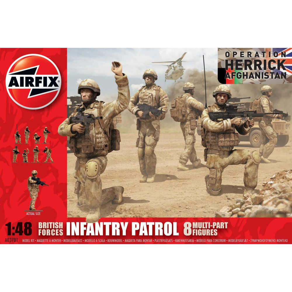 British Army Troops. 1/48 AIRFIX 03701