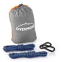 Overmont Portable Double 2 Person Orange + Grey Гамак Парашют для кемпинга Пешеходный туризм 118.1x78.7, фото 3