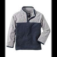 Флисовая кофта, свитер, реглан поддева OshKosh для мальчика серая, Размер 14, Размер 14