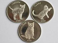 Набор монет Кошки- остров Строма - 1 фунт 2016г. (3шт)