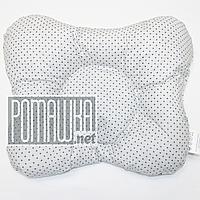 Подушка двухсторонняя ортопедическая для новорожденных верх 100% хлопок, 30х25 см 4060 Серый 3
