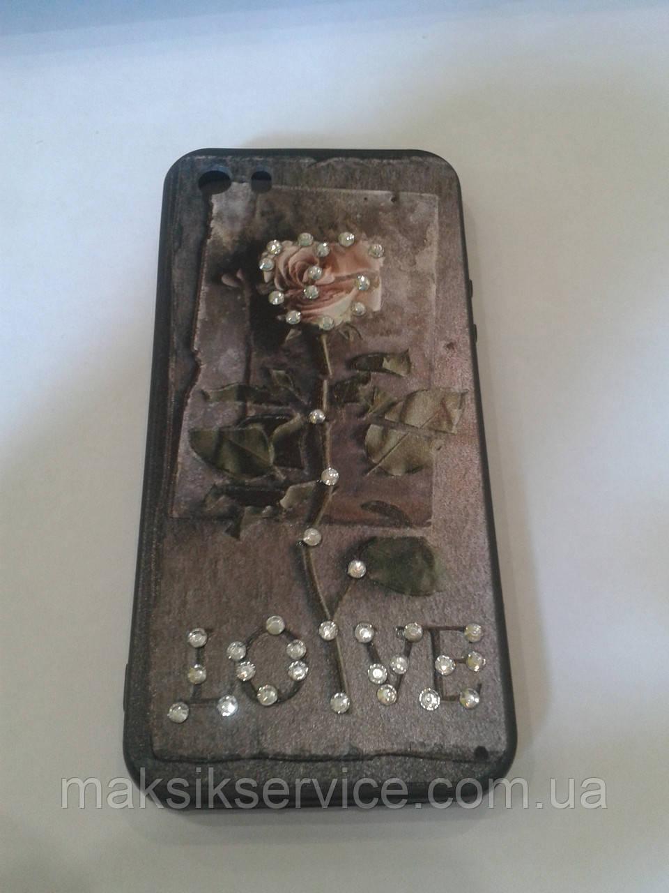 Чехол-Накладка на Iphone 5 5s flowers