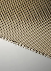 Поликарбонат сотовый Polygal СТАНДАРТ 6 мм, бронза, 2100х6000