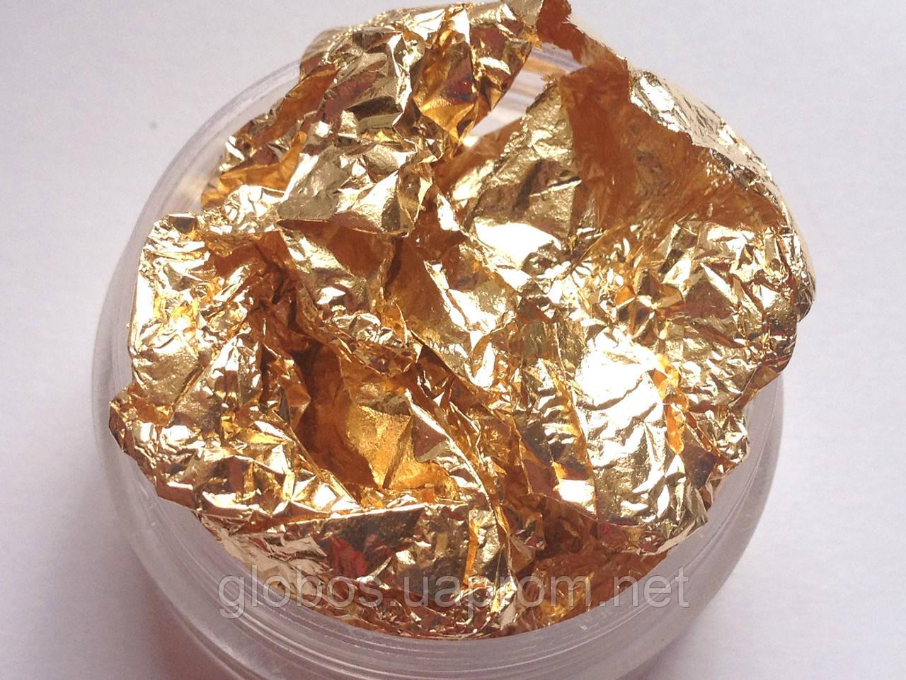 Фольга жатая, сусальное золото для дизайна ногтей RENEE IN066
