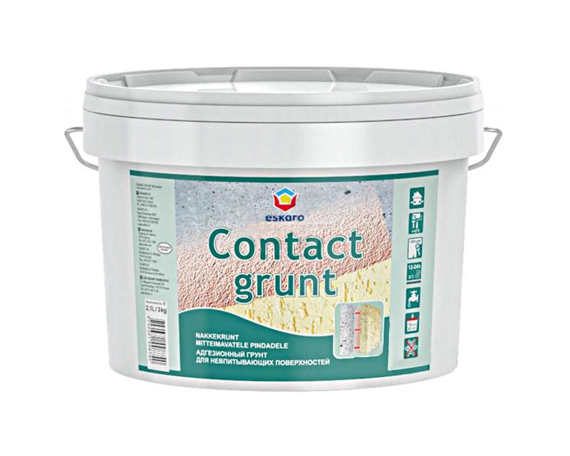 Грунт з кварцовим піском ESKARO CONTACT GRUNT адгезійний 3кг