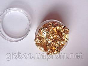 Фольга жатая, сусальное золото для дизайна ногтей RENEE IN066, фото 2