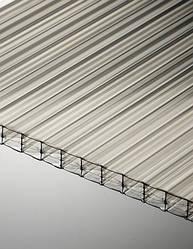 Поликарбонат сотовый Polygal 16 мм, прозрачный, 2100х6000 ТИТАН СКАЙ