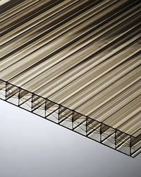 Поликарбонат сотовый Polygal 16 мм, бронза, 2100х6000 ТИТАН СКАЙ