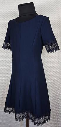 Школьное платье Милана  р.128-146 темно-синий, фото 2