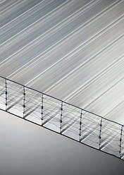 Поликарбонат сотовый Polygal 25 мм, прозрачный, 2100х6000 ТИТАН СКАЙ