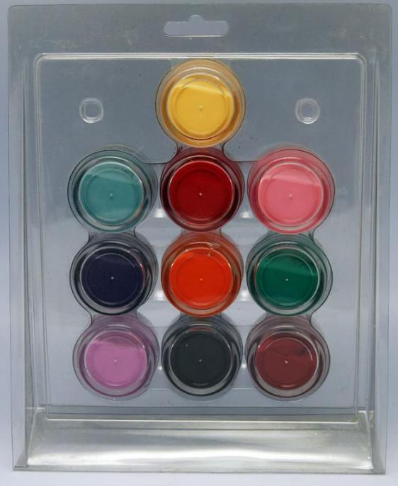 Набор цветных акрилов в блистере по 10 шт. YRE \ 091