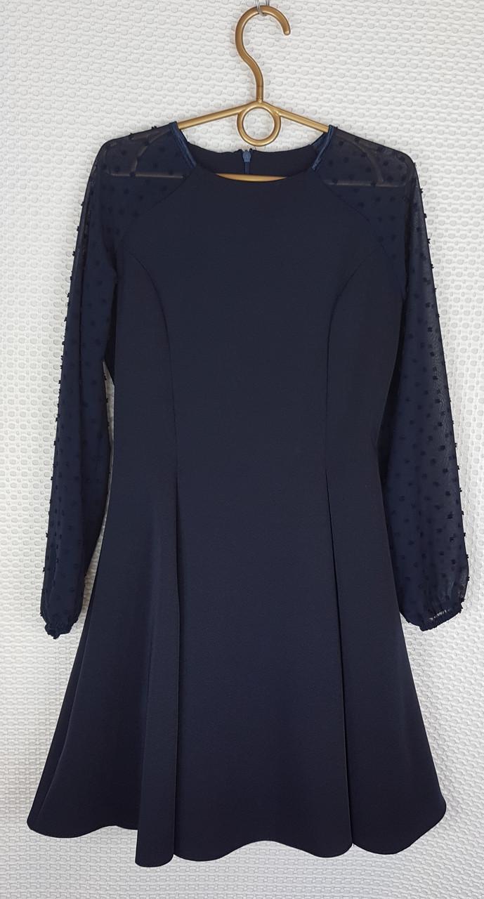 Школьное Платье Рыбка р.146-164 темно-синий