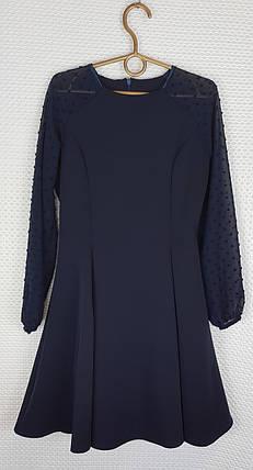 Школьное Платье Рыбка р.146-164 темно-синий, фото 2