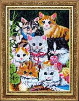 Набор для вышивки бисером Семеро котят БФ 593