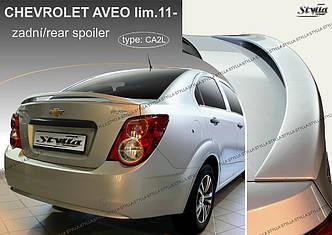 Спойлер козырек Chevrolet Aveo седан (2011+)