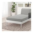 Шезлонг с лампой и столиком IKEA DELAKTIG Tallmyra белый серый 892.599.01, фото 4