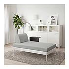 Шезлонг с лампой и столиком IKEA DELAKTIG Tallmyra белый серый 892.599.01, фото 5