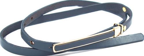 Стильный женский узкий кожаный ремень ETERNO (ЭТЕРНО) A0485-grey