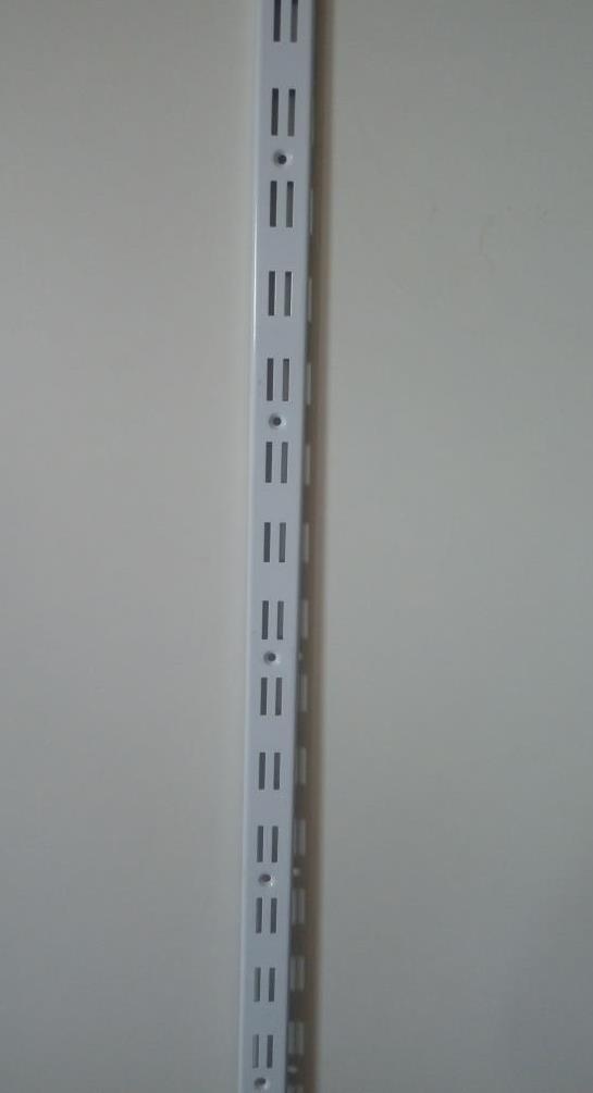 Рейка 2м перфорированная направляющая двойная для рельсового торгового оборудования