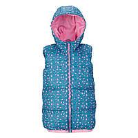 """Детская жилетка с капюшоном Freespirit """"Кессиди"""" для девочки, размер 116 см"""
