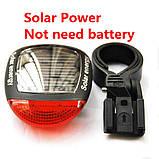 Задня велосипедна фара на сонячній батареї Solar, фото 3