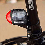 Задня велосипедна фара на сонячній батареї Solar, фото 8