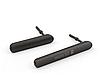 Комплект боковых заглушек для Sony Xperia M4 Aqua E2303 | E2306 | E2312 | E2333 | E2353 | E2363 (черный цвет)