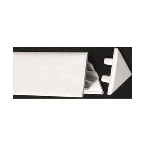 Заглушка декоративной планки 10 мм, белая