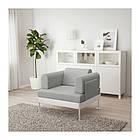 Кресло IKEA DELAKTIG Tallmyra белый серый 892.537.39, фото 7
