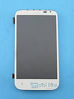 Дисплей с сенсорным экраном HTC Sensation XL (X315e) белый c рамкой, фото 1