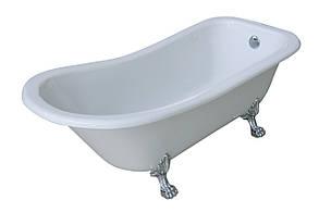Ванна  акриловая Volle 176*73*73/58 см, отдельно стоящая на львиных лапах (серебро), с сифоном